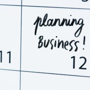Business planning calendar reminder